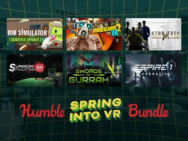 A look at some of the games you can get in the Humble Spring Into VR Bundle, courtesy of Humble Bundle.