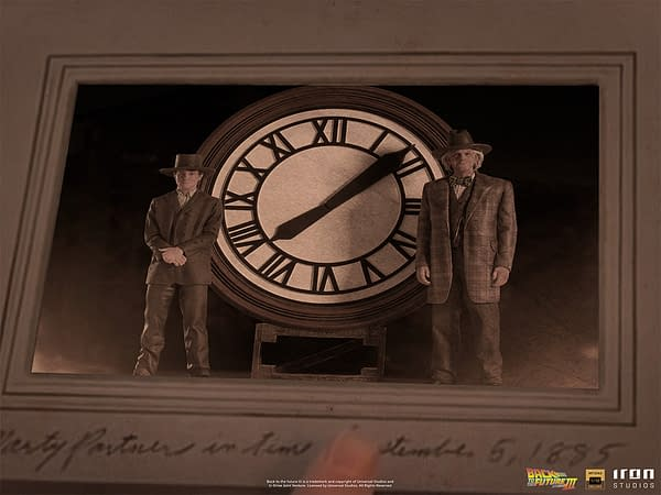 Back to the Future Part III Grand Clock Tower Comes To Iron Studios