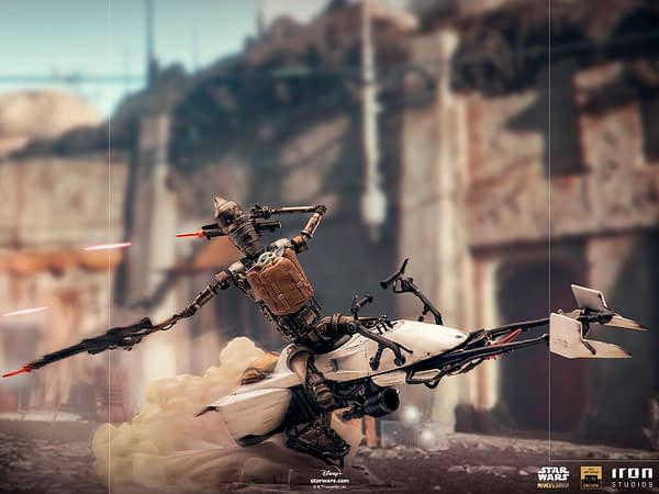 Star Wars The Child and IG-11 Go for a Ride with Iron Studios