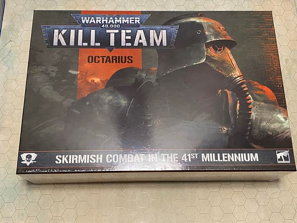The front cover for the Kill Team: Octarius boxed set, a skirmish game by Games Workshop set in the grimdark universe of Warhammer 40,000.