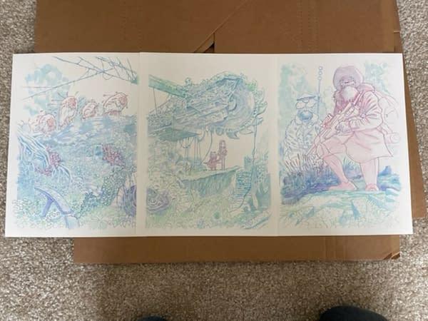 Original Cover Art To We Live #1 By Inaki Miranda Sells For $11,750