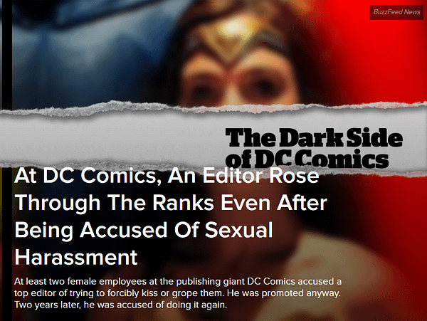 Buzzfeed Publishes Its Article On DC Comics Editor Eddie Berganza