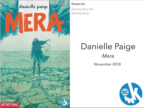 Dorothy Must Die's Danielle Paige Talks Mera – and How it Started as an Aquaman Little Mermaid Story