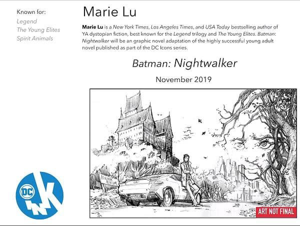 Marie Lu to Adapt Her Own Batman Novel, Nightwalker, as a Graphic Novel