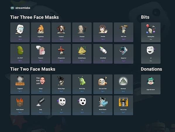 Twitch and Streamlabs Partner Up For Exclusive Sub Face Masks