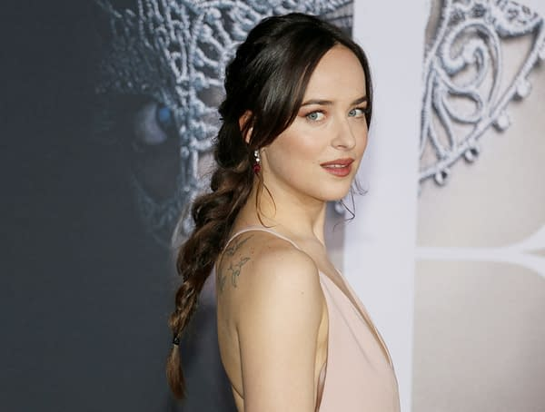 Dakota Johnson at the Los Angeles premiere of 'Fifty Shades Darker' held at the Theatre at Ace Hotel in Los Angeles, USA on February 2, 2017. Editorial credit: Tinseltown / Shutterstock.com