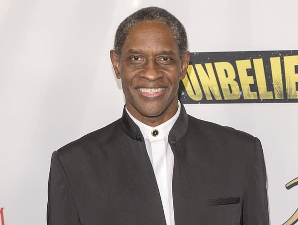 Tim Russ arrives at Unbelievable movie, 50 Anniversary Startrek party and red carpet at TLC Chinese theater, Hollywood CA. Septemper 7 2016. (Editorial credit: Eugene Powers / Shutterstock.com)