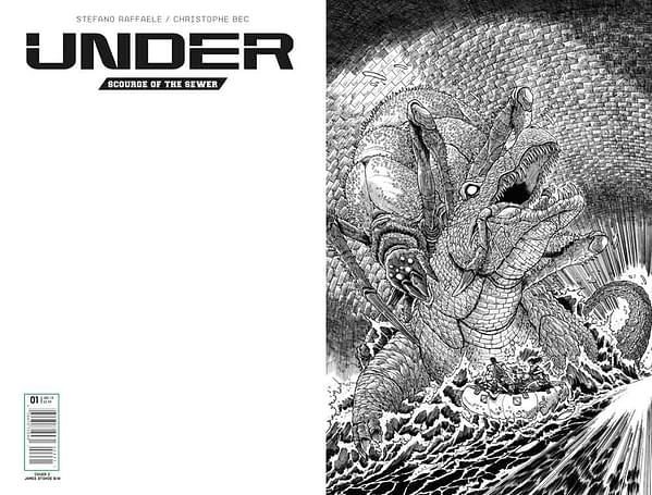 Titan Comics' Under Gets A Preview – And A James Stokoe's B&W Cover