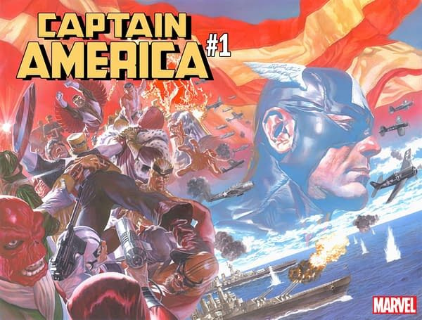 Marvel Launches Captain America #1 Early at Midnight on Fourth Of July, Alongside DC's Batwedding