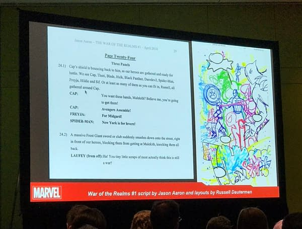 Making Comics the Marvel Way Panel at C2E2 – and Page 24 of War Of The Realms #1
