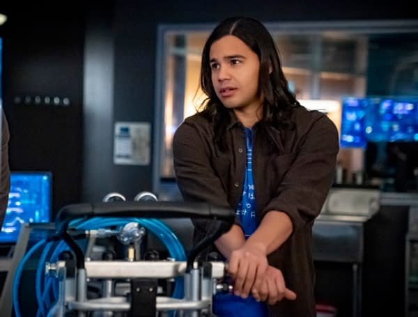 Carlos Valdes as Cisco Ramon in The Flash, courtesy of The CW.