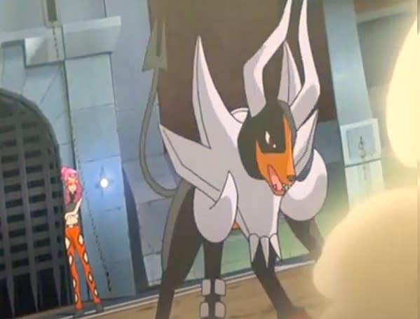 Mega Houndoom's appearance in the anime. Credit: Pokémon the Series