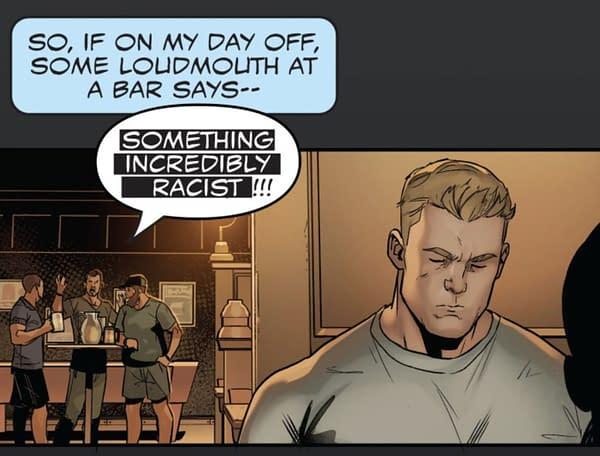 Captain America Vs Cable TV White Supremacists in New Marvel Comic