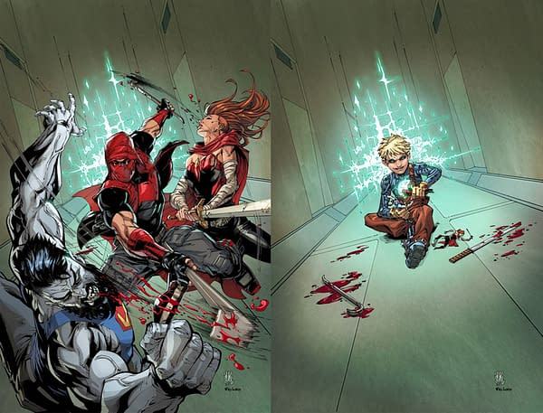 New Acetate Covers For Red Hood: Outlaw #40 as Superman #17 Drops Year Of The Villain