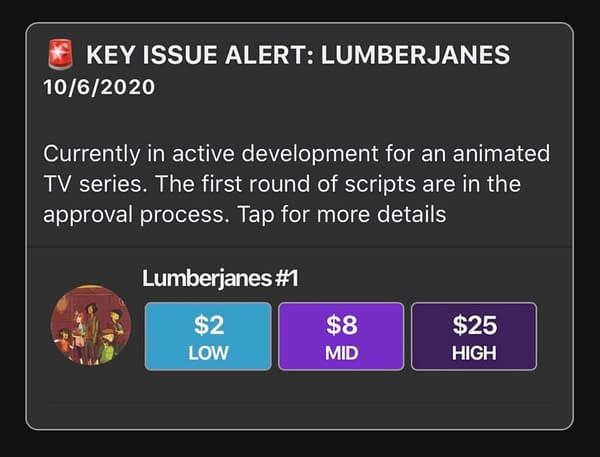 Speculator Corner: Lumberjanes Prices Double Following HBO Max Announcement