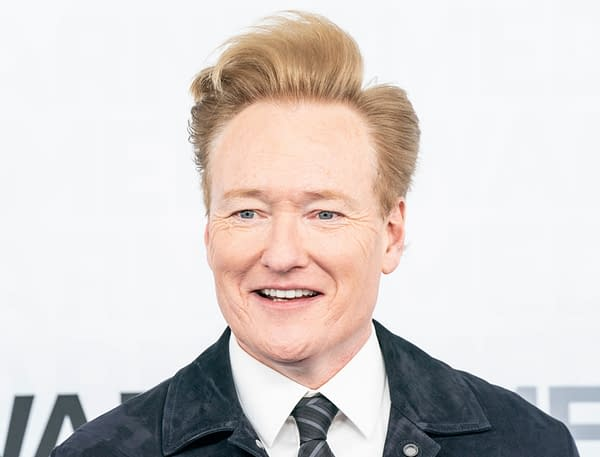 Conan O'Brien attends WarnerMedia Upfront 2019 arrivals outside of The Theater at Madison Square Garden. Editorial credit: lev radin / Shutterstock.com