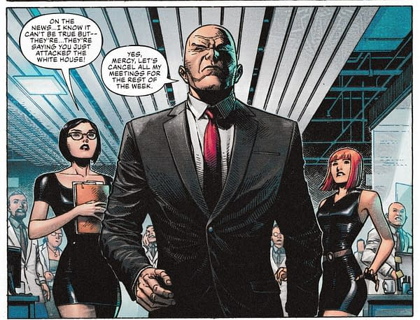 Now Lez Luthor Attacks Donald Trump in DC's Year Of The Villain #1 (Spoilers)