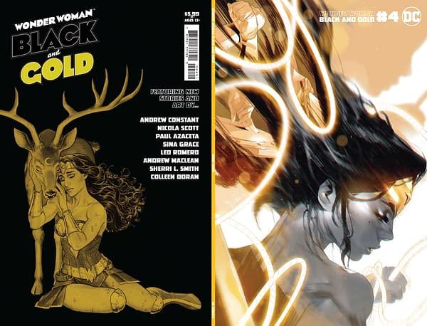 Cover image for WONDER WOMAN BLACK & GOLD #4 (OF 6) CVR B JOSHUA MIDDLETON VAR