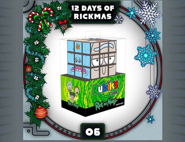 """Rick and Morty and Adult Swim are kicking off the """"12 Days of Rickmas"""" starting December 1 (Image: Adult Swim)"""