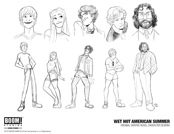Christopher Hastings and Noah Hayes Are the Creative Team for BOOM!'s Wet Hot American Summer Comic