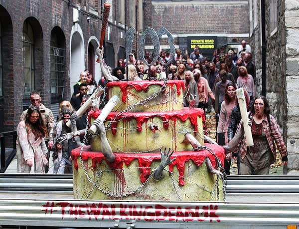 53 Shots And Video Of The Walking Dead Zombie March Through Old London Town…