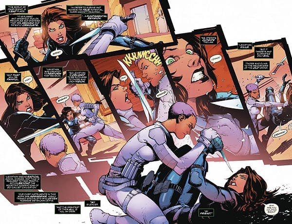 Silencer #4 art by Viktor Bogdanovic and Mike Spicer