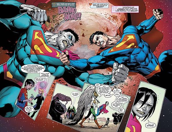 Superman #44 art by Doug Mahnke, Jamie Mendoza, and Wil Quintana
