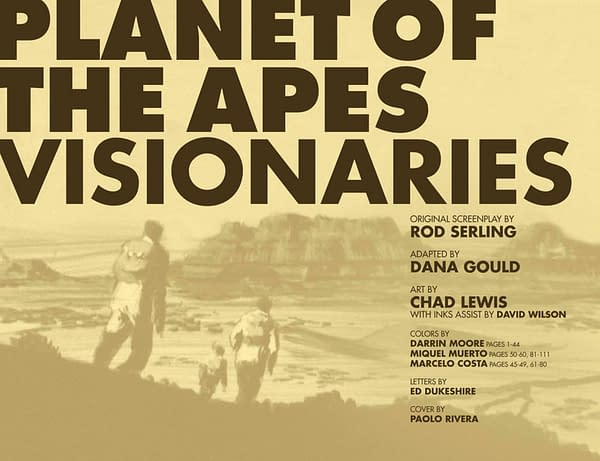 Look Inside the Comic Adaptation of Rod Serling's Original Planet of the Apes Script