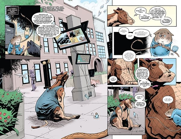 Animosity: Evolution #6 art by Eric Gapstur and Rob Schwager