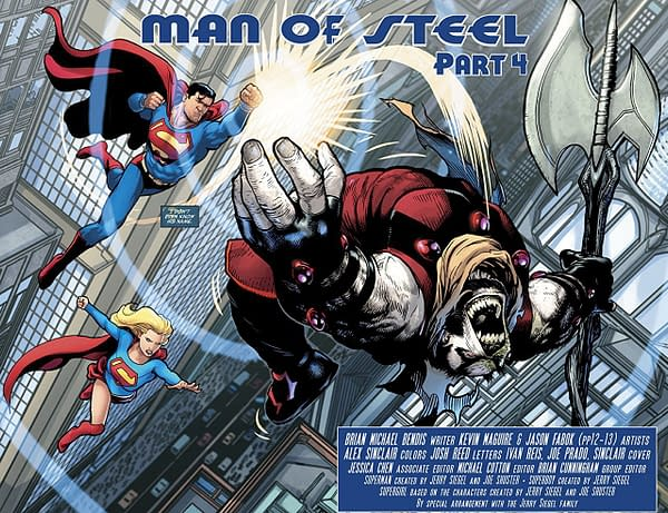 Man of Steel #4 art by Kevin Maguire and Alex Sinclair