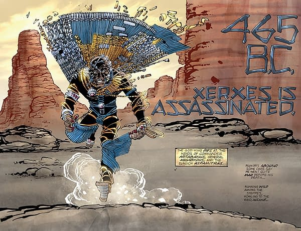 Xerxes #3 art by Frank Miller and Alex Sinclair