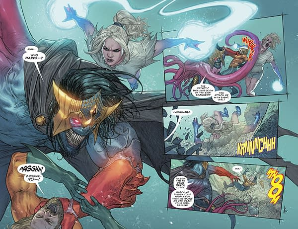 Aquaman #38 art by Riccardo Federici and Sunny Gho