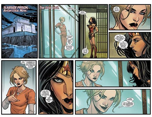 Wonder Woman #51 art by Laura Braga and Romulo Fajardo Jr.