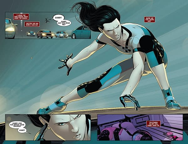 X-23 #3 art by Juann Cabal and Nolan Woodard