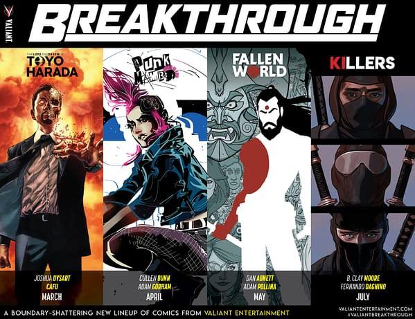 Valiant Announces 'Breakthrough' Line-Up for 2019
