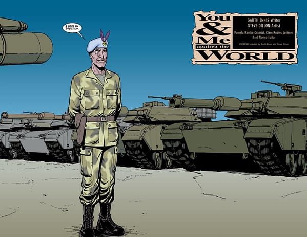 Garth Ennis Writing Hellman and Rat Pack for Rebellion – and Why Glyn Dillon Drew Steve Dillon's Tanks in Preacher