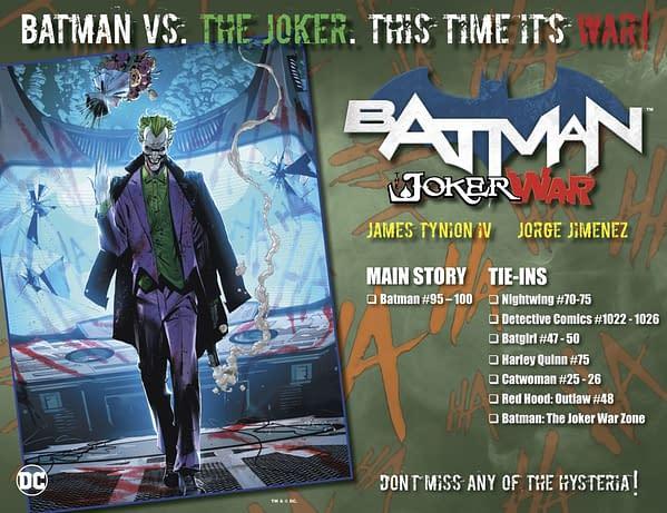 Joker War Zone Announced By DC Comics Tomorrow For Joker War.