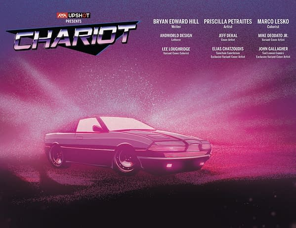Chariot: AWA Studios Previews Variant Covers for New Series