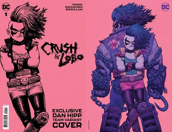 Dan Hipp variant cover for Crush and Lobo #1