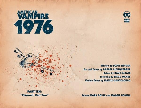Interior preview page from AMERICAN VAMPIRE 1976 #10 (OF 10) CVR A RAFAEL ALBUQUERQUE (MR)