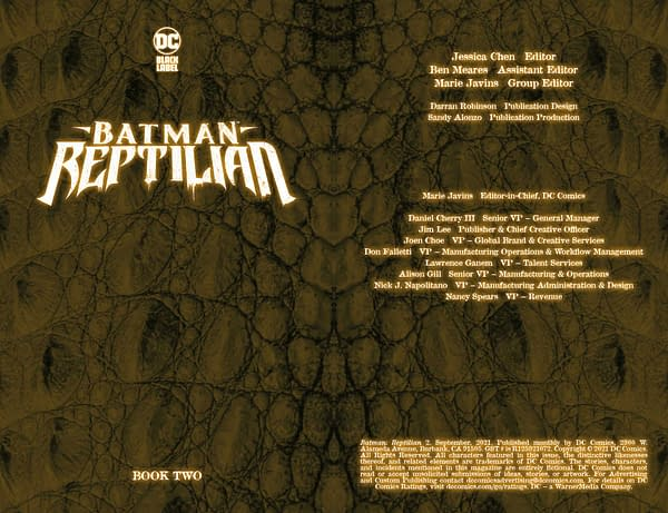 Interior preview page from BATMAN REPTILIAN #2 (OF 6) CVR A LIAM SHARP (MR)