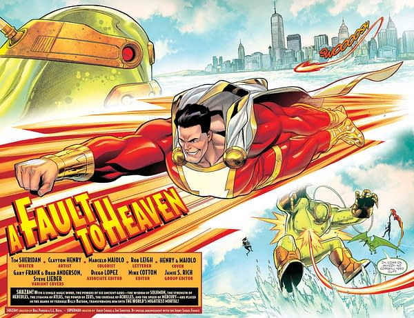 Interior preview page from SHAZAM #1 (OF 4) CVR A CLAYTON HENRY