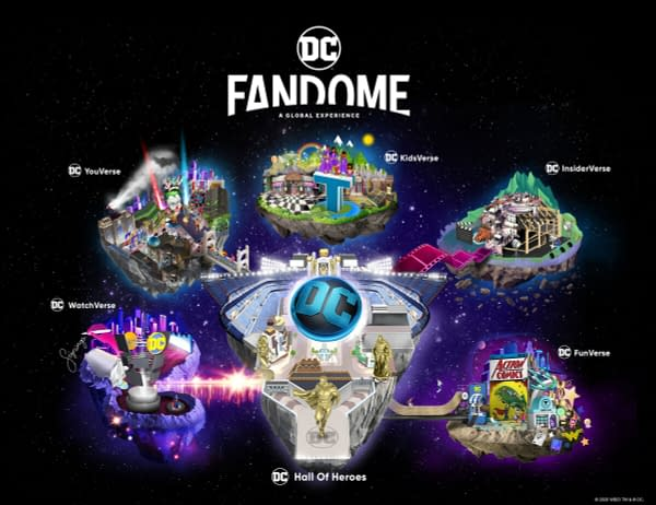 A look at The CW's new DC Fandome-related promo art (Image: The CW)