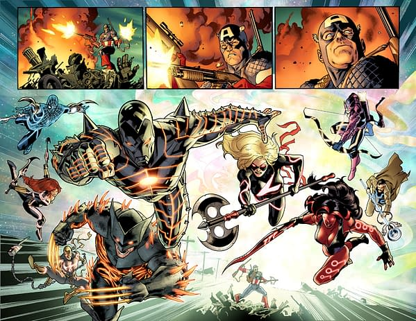 "Double Page ""Here Comes The Cavalry"" Splash From Fear Itself #7"