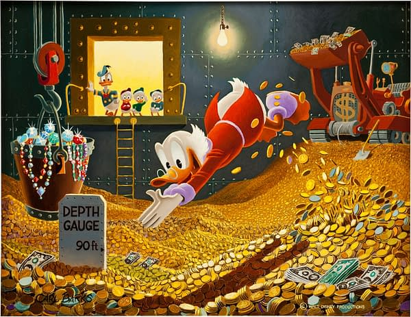 Swimming In Money: Carl Barks Scrooge McDuck Painting Goes For Record $262,900