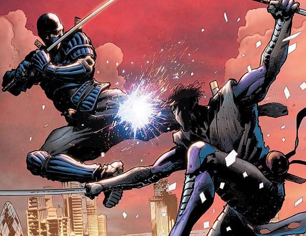 Ninja-K #5 cover by Trevor Hairsine and Andrew Dalhouse