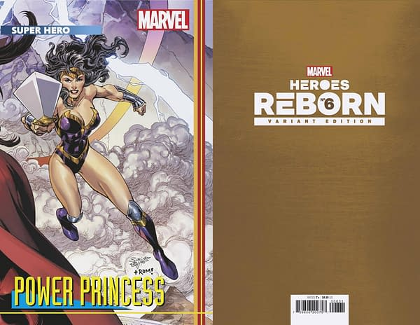 Cover image for HEROES REBORN #6 (OF 7) BAGLEY CONNECTING TRADING CARD VAR