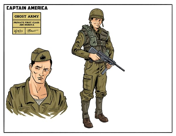 Captain America: The Ghost Army: Scholastic Previews Character Art