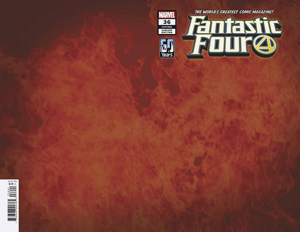 Cover image for FANTASTIC FOUR #36 WRPAD FLAME VAR