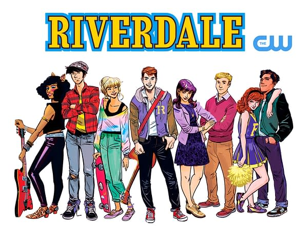 An image of the main Riverdale characters in comic form
